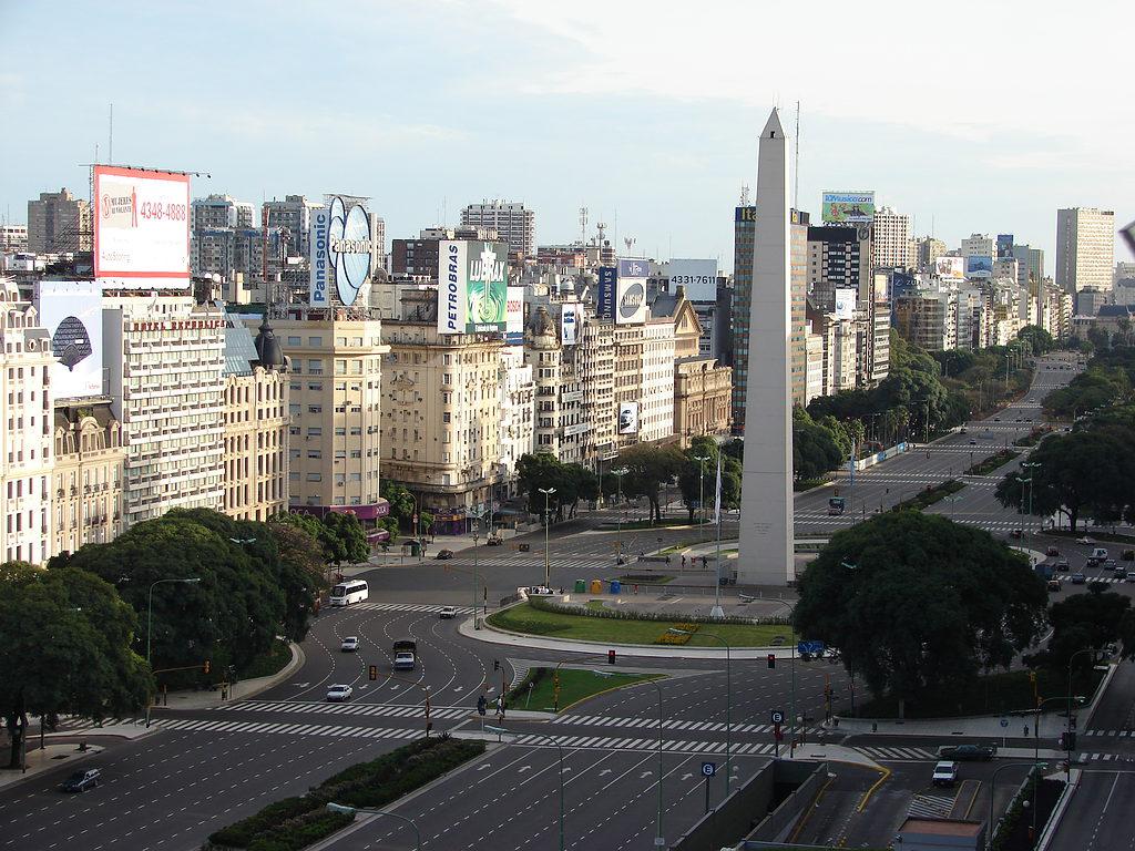 Buenos Aires - Obelisco and Avenida 9 de Julio