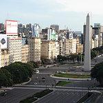 Int'l AIDS Awareness Day Buenos Aires - Obelisco and Avenida 9 de Julio