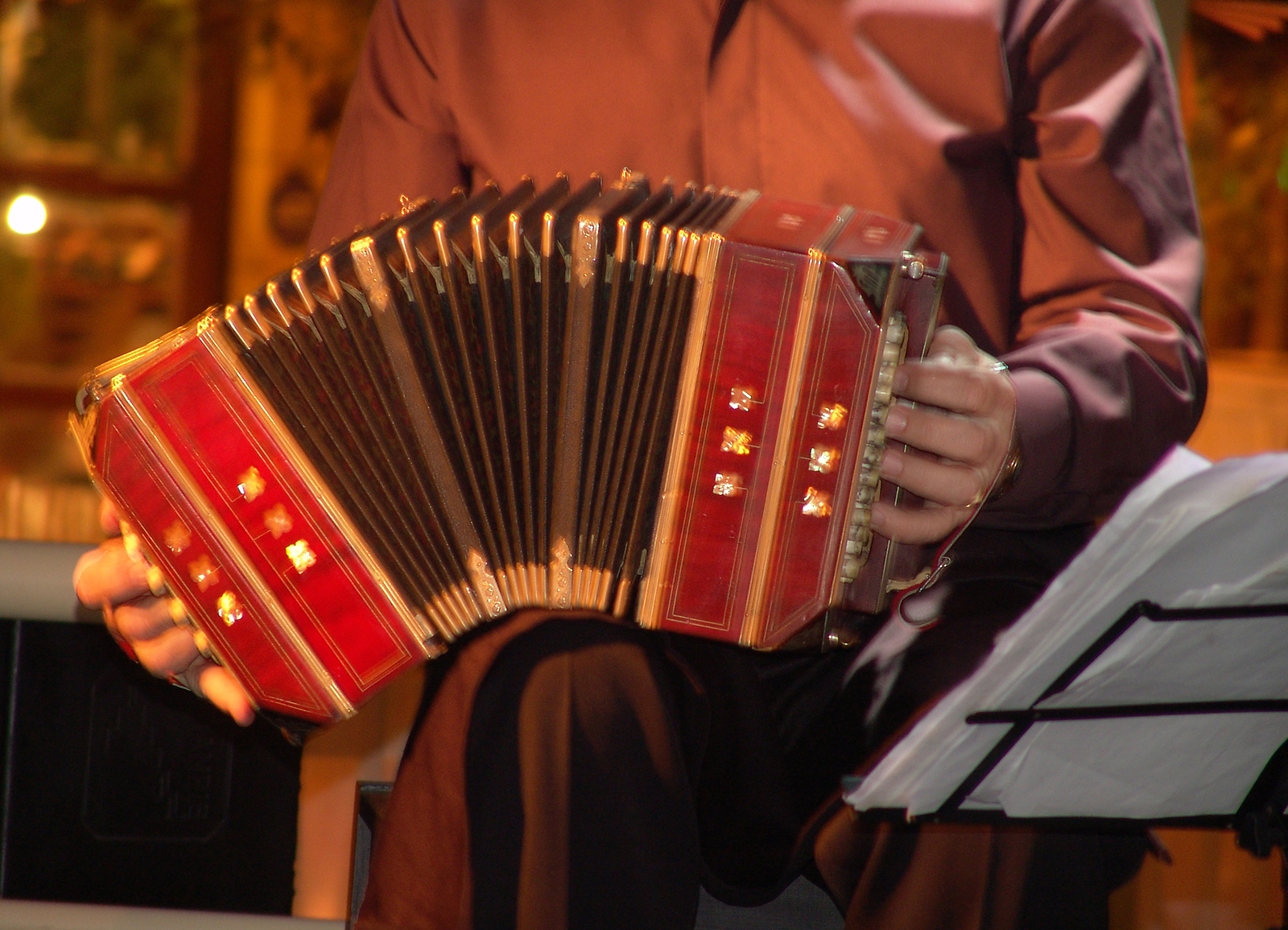Argentine Tango - Buenos Aires typical instrument, the Bandoneon
