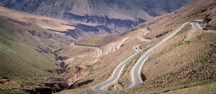 Purmamarca road - Argentina Travel