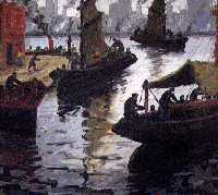 Benito Quinquela Martin - Painting of  La Boca