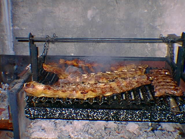 Argentina: Parrillada or barbeque on a grill or parrilla