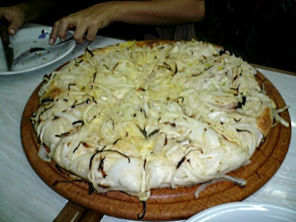 Fugazzeta a classic in Buenos Aires pizza