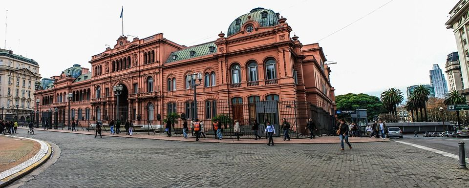 The Casa Rosada - the equivalent to the White House in DC - situated right across from the Plaza de Mayo.